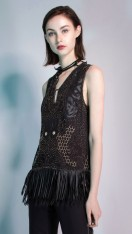 NIRVAVA BEADED FRINGE DRESS