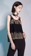NIRVANA BEADED FRINGE DATE TOP