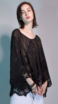 SAINT-AMOUR EMBROIDERED BLOUSE