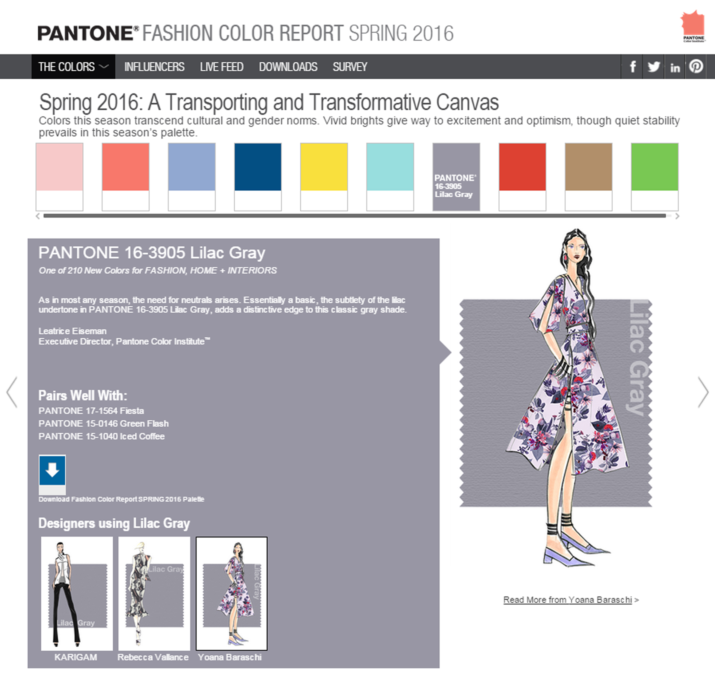 nyfw u2013 pantone spring 2016 color report yoana baraschi